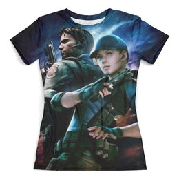 """Футболка с полной запечаткой (женская) """"Resident Evil"""" - игра, обитель зла, resident evil, umbrella, re"""