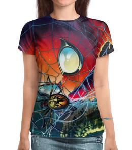 """Футболка с полной запечаткой (Женская) """"Человек-паук / Spider-Man"""" - комикс, рисунок, кино"""