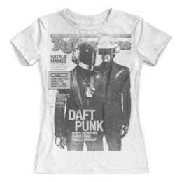 """Футболка с полной запечаткой (женская) """"Daft Punk"""" - музыка, хаус, электроника, daft punk, дафт панк"""