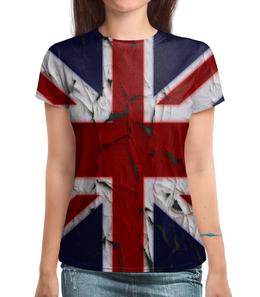 """Футболка с полной запечаткой """"Англия"""" - страны, англия, флаг, великобритания, народы"""