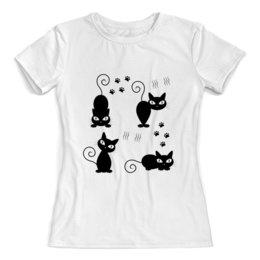 """Футболка с полной запечаткой (женская) """"Котики"""" - кот, кошка, животные, котята"""