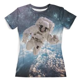 """Футболка с полной запечаткой (женская) """"Космическая эра"""" - space, космос, наука, марс, thespaceway"""