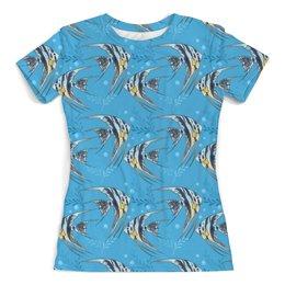 """Футболка с полной запечаткой (женская) """"Морские рыбки"""" - стиль, дизайн, мода"""