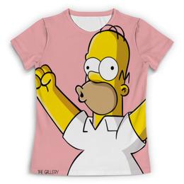 """Футболка с полной запечаткой (Женская) """"Гомер Симпсон"""" - симпсоны, гомер симпсон, the simpsons"""