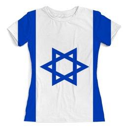 """Футболка с полной запечаткой (женская) """"Земля Обетованная"""" - страна, флаг, израиль"""