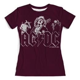 """Футболка с полной запечаткой (Женская) """"AC/DC Band"""" - heavy metal, hard rock, ac dc, эйси диси, хеви метал"""
