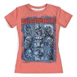 "Футболка с полной запечаткой (женская) ""Iron Maiden Band"" - iron maiden, heavy metal, eddie, рок музыка, рок группа"
