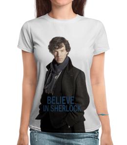 """Футболка с полной запечаткой """"Шерлок"""" - sherlock, бенедикт камбербэтч"""