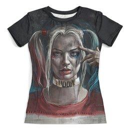 """Футболка с полной запечаткой (женская) """"Harley Quinn_"""" - харли квинн, harley quinn, dc комиксы, суперзлодейка, отряд самоубийц"""