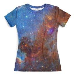"""Футболка с полной запечаткой (женская) """"Universe"""" - футболка космос, одежда космос, майка космос, космос, наука"""