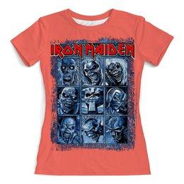 "Футболка с полной запечаткой (женская) ""Iron Maiden Band"" - heavy metal, рок музыка, рок группа, iron maiden, eddie"