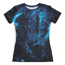 """Футболка с полной запечаткой (женская) """"The Space"""" - космос, наука, прогресс, денис гесс, the spaceway"""