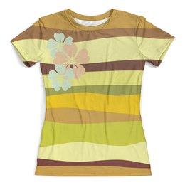 """Футболка с полной запечаткой (женская) """"зеленый песок"""" - купить, для девушки, трикотаж, футболку, женскую"""
