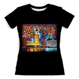 """Футболка с полной запечаткой (женская) """"Лондон"""" - арт, страны, города, лондон, мост"""