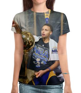 "Футболка с полной запечаткой ""Stephen Curry"" - баскетбол, nba, нба, golden state warriors, стефен карри"