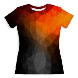 """Футболка с полной запечаткой (женская) """"LowPoly"""" - абстракция, color, треугольники, polygon, полигон"""