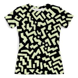 """Футболка с полной запечаткой (женская) """"Лабиринт"""" - узор, pattern, текстуры, weave, другие"""