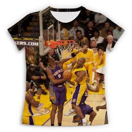"Футболка с полной запечаткой (Женская) ""Lakers - Kobe"" - баскетбол, nba, нба, kobe bryant"