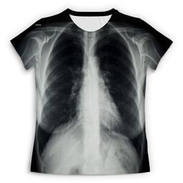 """Футболка с полной запечаткой (Женская) """"Рентген"""" - x-ray, рентген"""