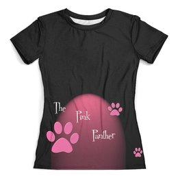 """Футболка с полной запечаткой (женская) """"The pink Panther """" - розовая пантера"""