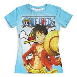 """Футболка с полной запечаткой (женская) """"One Piece"""" - one piece, ван пис, аниме, манга"""