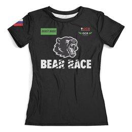 "Футболка с полной запечаткой (женская) ""Bear Race BEAST MODE RUSSIA"" - bearrace, beastmode"