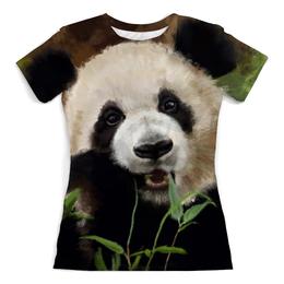 """Футболка с полной запечаткой (Женская) """"ПАНДА!!!"""" - позитив, панда, настроение, лес, panda"""