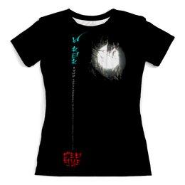 """Футболка с полной запечаткой (женская) """"Луна в ветвях № 1. Китай"""" - этно, философия, иероглифы, поэзия, ориентал"""
