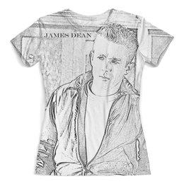 """Футболка с полной запечаткой (женская) """"James Dean Джеймс Дин Rebel"""" - джеймс дин, бунтарь, легенда, james dean, rebel without a cause"""