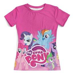 "Футболка с полной запечаткой (женская) ""My Little Pony"" - rainbow dash, my little pony, applejack, friendship is magic, twilight sparkle"