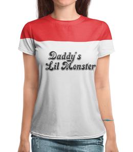 "Футболка с полной запечаткой ""Daddy's Lil Monster"" - харли квинн, harley quinn, отряд самоубийц, sucide squad, daddy's lil girl"