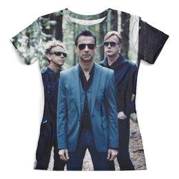 "Футболка с полной запечаткой (женская) ""Depeche Mode"" - музыка, арт, стиль, depeche mode, авангард"