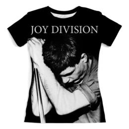 """Футболка с полной запечаткой (Женская) """"Joy Division"""" - joy division, группы, ian curtis, пост-панк, иен кёртис"""