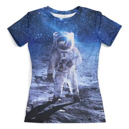 """Футболка с полной запечаткой (женская) """"Покоряя космос"""" - space, космос, наука, марс, thespaceway"""