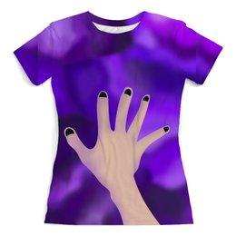 """Футболка с полной запечаткой (женская) """"Need a hand"""" - мир, абстракция, иллюстрация, авторский рисунок"""