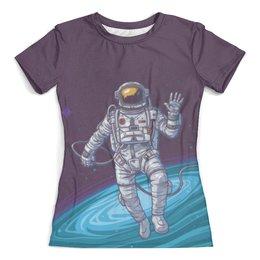 """Футболка с полной запечаткой (женская) """"The Spaceway Travel"""" - одежда космос, футболка космос, космос, звезды"""