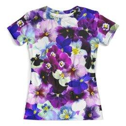 """Футболка с полной запечаткой (женская) """"Spring Flower"""" - лето, цветы, flower, весна, цветочки"""