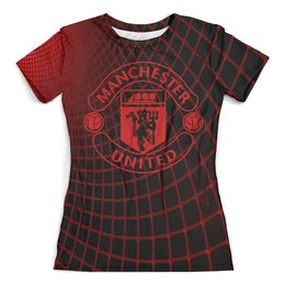"""Футболка с полной запечаткой (женская) """"Манчестер Юнайтед"""" - manchester united, манчестер юнайтед, спорт, игры, футбол"""