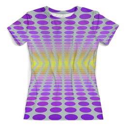 """Футболка с полной запечаткой (женская) """"Abstraction 3D"""" - 3d, абстракция, геометрические фигуры, круги, иллюзии"""