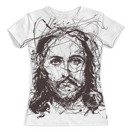 """Футболка с полной запечаткой (женская) """"Я верю в искусство"""" - арт, христос, jesus christ, иисус христос, суперзвезда"""