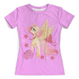 """Футболка с полной запечаткой (женская) """"My Little Pony"""" - пони, му little pony"""