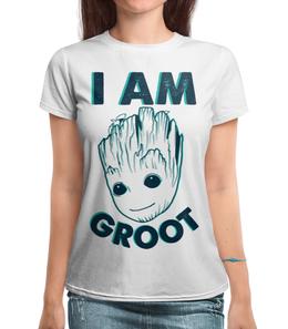 "Футболка с полной запечаткой ""I AM GROOT"" - marvel, марвел, грут, groot"