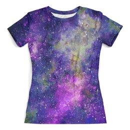 """Футболка с полной запечаткой (женская) """"Space (violet)"""" - арт, space, космос, космический арт, фиолетовый космос"""
