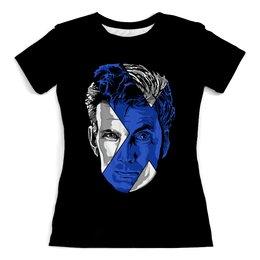 """Футболка с полной запечаткой (женская) """"Доктор Кто ( Doctor Who)"""" - doctor who, доктор кто"""