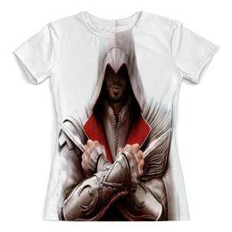 """Футболка с полной запечаткой (женская) """"Assassin's Creed"""" - игры, assassin's creed, ассасин, кредо убийцы, компьютерные"""