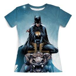 """Футболка с полной запечаткой (женская) """"Batgirl"""" - комиксы, batgirl, бэтгёрл"""