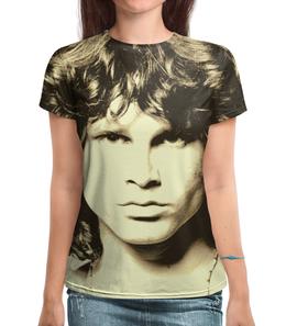 """Футболка с полной запечаткой (Женская) """"Jim Morrison"""" - музыка, jim morrison, the doors, джим моррисон, doors"""