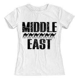 """Футболка с полной запечаткой (женская) """"Караван востока"""" - арабский, ближний восток, арабы, восточная тема"""