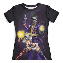 """Футболка с полной запечаткой (женская) """"Harley Quinn Design"""" - джокер, харли квинн, dc комиксы, отряд самоубийц, суперзлодеи"""