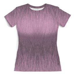 """Футболка с полной запечаткой (женская) """"Дизайн футболки корректирующая фигуру"""" - девушка, грудь, женщина, абстракция, иллюзия"""
